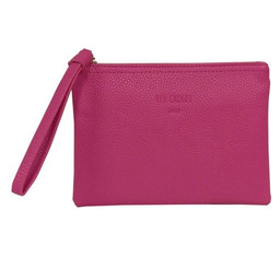 Red Cuckoo Textured Clutch - Hot Pink