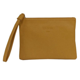 Red Cuckoo Textured Clutch - Yellow