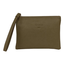 Red Cuckoo Textured Clutch - Dark Olive