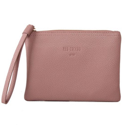 Red Cuckoo Textured Clutch - Dusky Pink