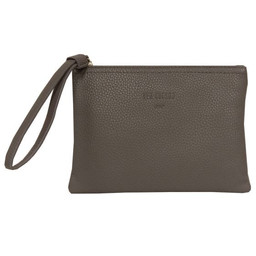 Red Cuckoo Textured Clutch - Grey
