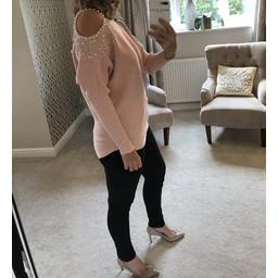 Lucy Cobb Tia Pearl Jumper - Pink