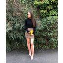 Brushed Leopard Zip Pocket Skirt - Leopard Print