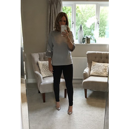 Lucy Cobb Kayleigh Sequin Jumper - Grey