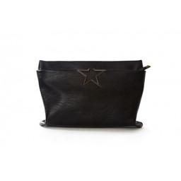 Malissa J Star Detail Clutch - Black