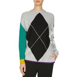 Oui Highlight Fine Knit Jumper - Grey Mix