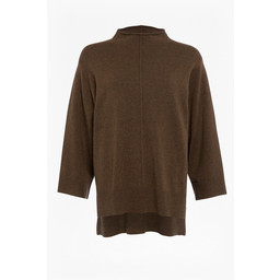 French Connection Ebba Mock Neck Jumper - Khaki