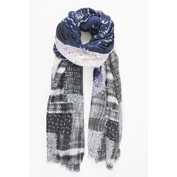 Lucy Cobb Lagos Scarf - Navy Mix