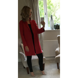 Lucy Cobb Sandra Suede Jacket in Red