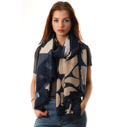 Lucy Cobb Abstract Colour Block Scarf - Black