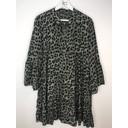 Millie Animal Print Tunic - Khaki