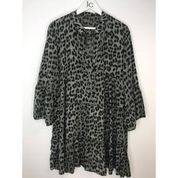 Lucy Cobb Millie Animal Print Tunic - Khaki