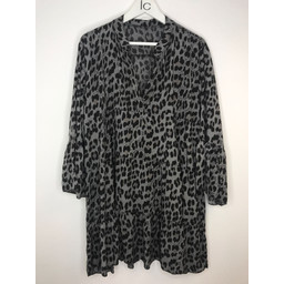 Lucy Cobb Millie Animal Print Tunic - Dark Grey