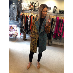 Lucy Cobb Joseph Leopard Coat - Multicoloured
