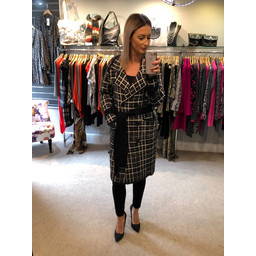 Lucy Cobb Molly Wool Coat - Black Mix