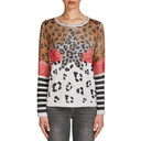Animal Print Star Pullover - Animal Print - Alternative 1