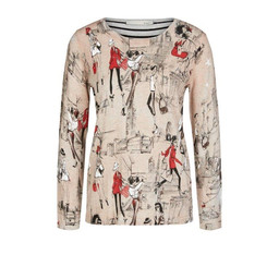 Oui London Shopper Pullover  - Beige