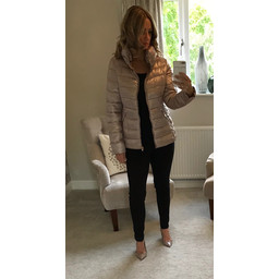 Lucy Cobb Chelsea Padded Coat - Champagne