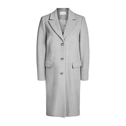 Oui Classic Wool Coat in Grey