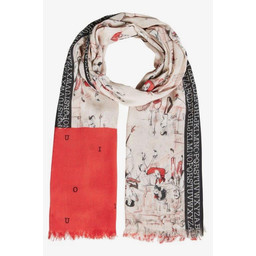 Oui London Alphabet Scarf - Baby Pink