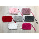 Faux Fur Clutch - Red - Alternative 1