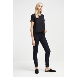 French Connection Thermal Denim High Rise Skinny Jeans - Indigo