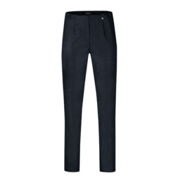 Robell Trousers Marie Geo Jacquard Trousers - Navy