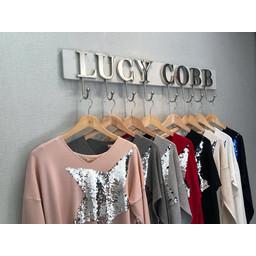 Lucy Cobb Sasha Sequin Star Jumper - Stone