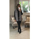 Amelia Hooded Faux Fur Gilet - Grey