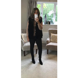 Lucy Cobb Adelaide Faux Fur Gilet in Black