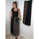Lila Leopard Pleated Maxi Skirt - Leopard Print
