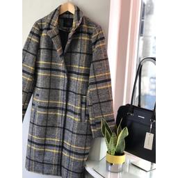 Lucy Cobb Christine Check Coat  - Black Mix