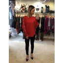 Emily Diamante Bow Jumper - Red
