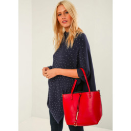 Lucy Cobb Reversible Tote - Red
