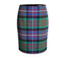 Tartan Print Skirt  - Multi