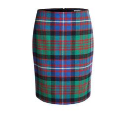 Oui Tartan Print Skirt  - Multi