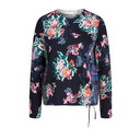 Floral Print Drawstring Jumper - Navy Mix