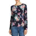 Floral Print Drawstring Jumper - Navy Mix - Alternative 1