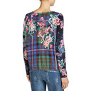 Floral Print Drawstring Jumper - Navy Mix - Alternative 2