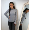 Francesca Frill Jumper - Grey