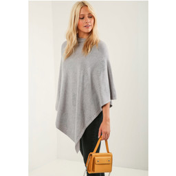 Lucy Cobb Sparkle Tree Poncho in Grey