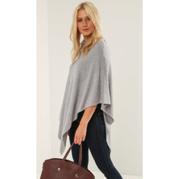 Lucy Cobb Sparkle Stud Poncho in Grey