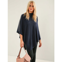 Lucy Cobb Sparkle Shoulder Poncho - Navy