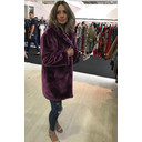 Tilly Fur Coat - Purple