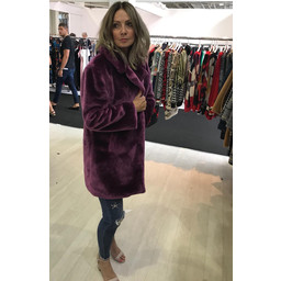 Lucy Cobb Tilly Fur Coat in Purple