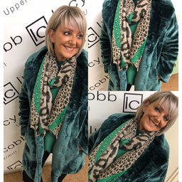 Lucy Cobb Tilly Fur Coat in Green