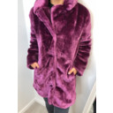 Tilly Fur Coat - Purple - Alternative 2