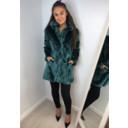 Tilly Fur Coat - Green - Alternative 1