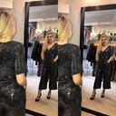 Alexa Sparkle Jumpsuit - Black - Alternative 2