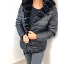 Lulu Padded Faux Fur Reversible Coat - Black - Alternative 1